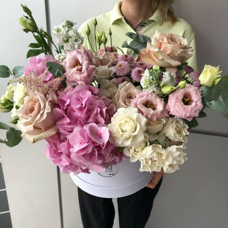 cutie flori hortensii